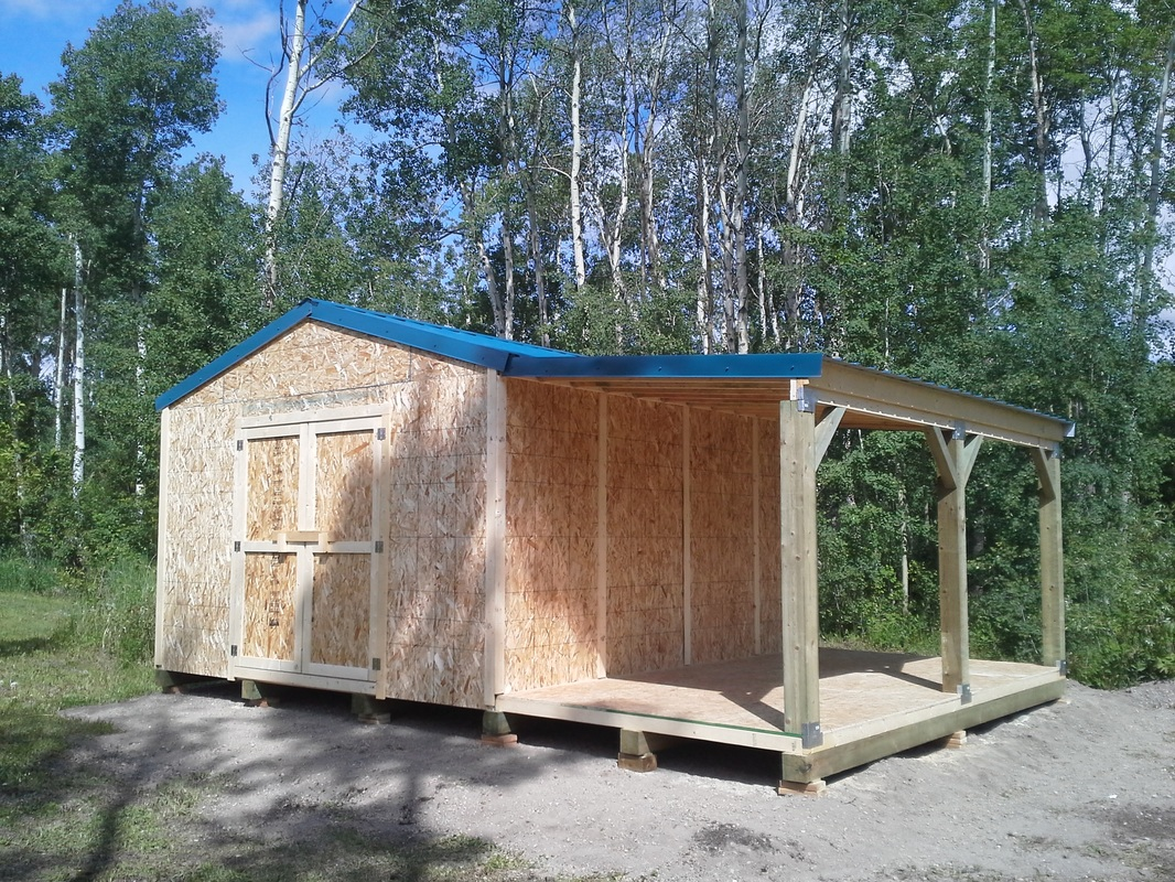 14 X 16 Storage Shed With 8 Open Side